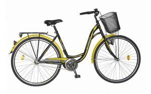 Bicicleta oras DHS Citadinne 2832 - model 2015 28''-Negru-Galben-500 mm