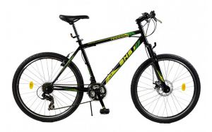 Bicicleta Mountain Bike Hardtail DHS Terrana 2623 - model 2015 26''-Negru-Galben-457 mm