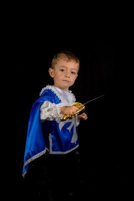 Costum print, cavaler, muschetar albastru 1509