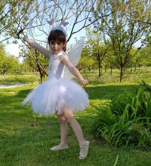 Inchiriere rochita fluturasi alb fetite 1413