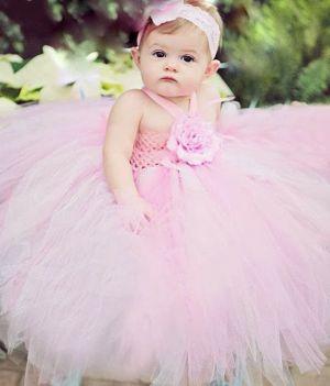 Rochie roz pentru botez, onomastica 1068V