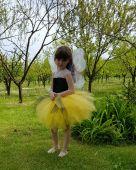 Costum fluturasi galben fete 1417