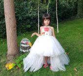 Rochita eleganta ivory pentru copii 1424v
